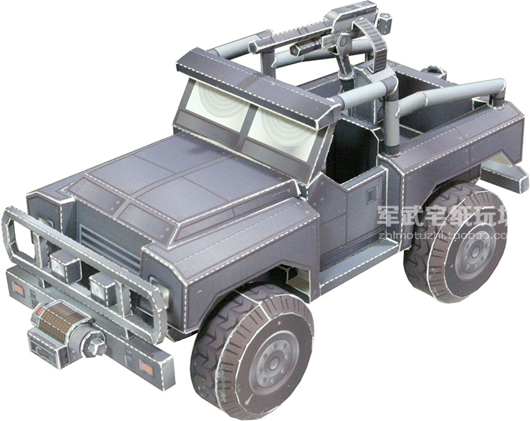1:72 4D Hummer Missiles Truck Assemble Model Military Children Toy Boy Gift PDH