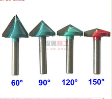 CNC Wood Engraving 3D Bits Router 90 Degree 6mm x 32mm V Groove Acrylic(China (Mainland))