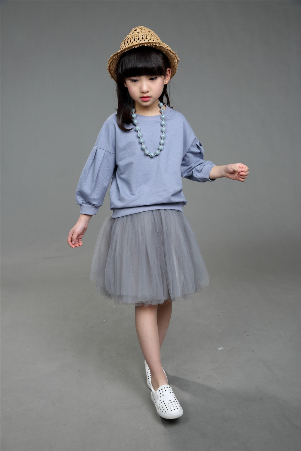 Toddler Girls Autumn Spring Clothing Sets Baby Solid Hoodies Coat Cotton Children Voile Princess Skirts 2PCS 5sets/LOT<br><br>Aliexpress