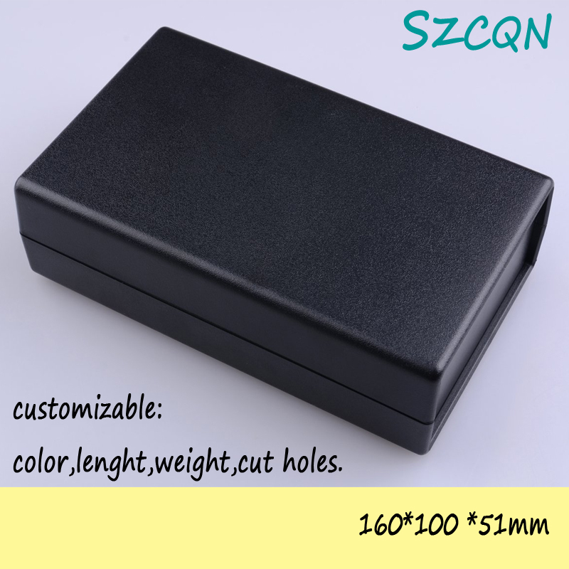 [] black plastic housing electronic box enclosure DIY abs junction 160*100*51mm - QN-Enclosure Technology CO.,ltd store