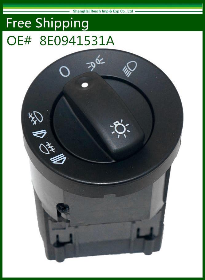 New Headlight Control Head Light Switch Fit for AUDI A4 S4 B6 QUATTRO OE#: 8E0941531A 8E0 941 531 A(China (Mainland))
