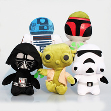 Star Wars Plush Toy Embroidered Q Doll Yoda Darth Vader Stormtrooper Tsum Tsum Stuffed Doll Toys