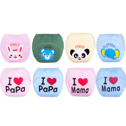 Baby cotton potty training pants/modeling cloth diaper pants/nappies/training underwear(China (Mainland))