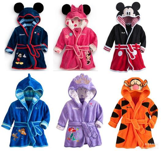New style children cartoon animal shape pajamas kids family sleeping bathrobes for girls and boys pyjamas kids pijamas(China (Mainland))