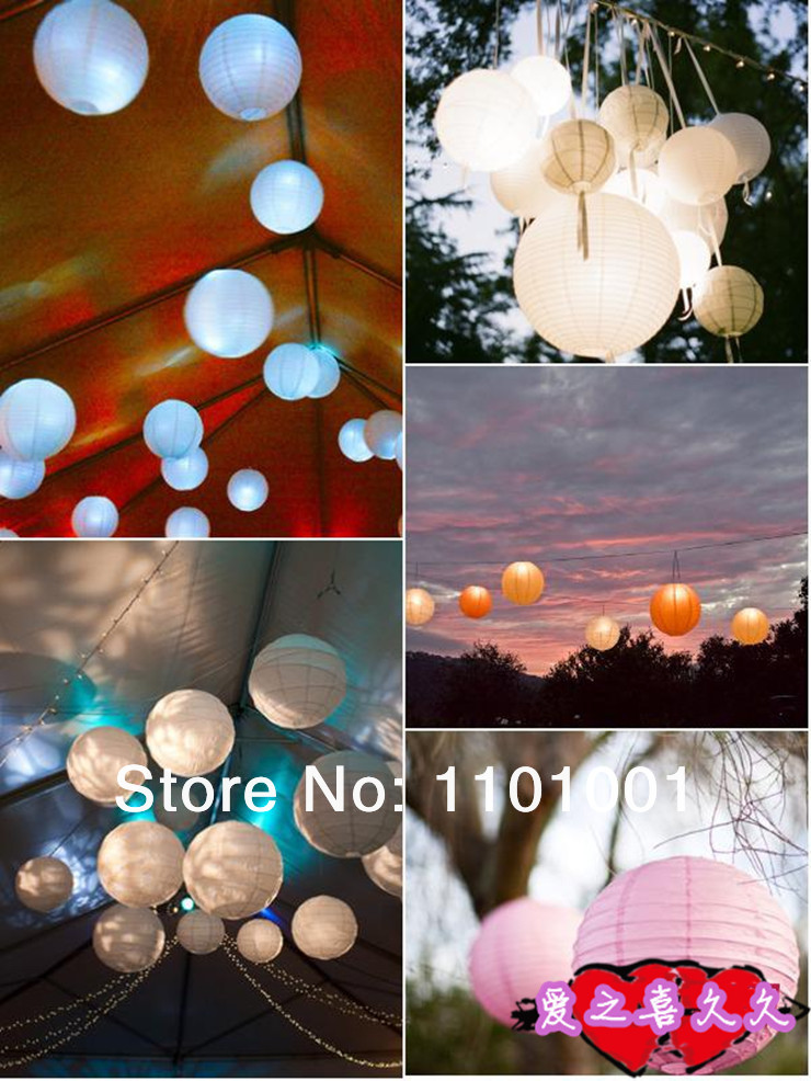 2014 the aliexpress wedding gift white round paper lanterns for the paryt decoration 10inches(China (Mainland))