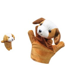 2 PC Baby Plush Toys Cartoon Happy Family Fun Animal Finger Hand Puppet Kids Learning & Education Toys Gifts VBQ38 P50 (China (Mainland))