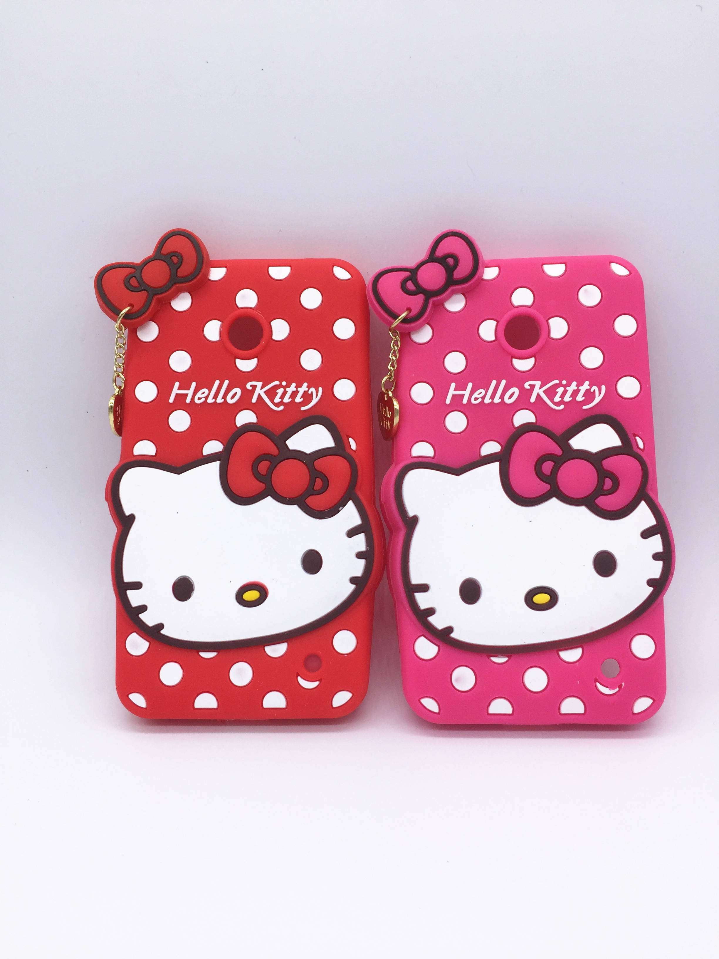New 3D Cartoon Hello Kitty Case Pendant Bowknot Soft Silicon Cover for Nokia Lumia 630 635 636 638 Rubber Phone shell(China (Mainland))