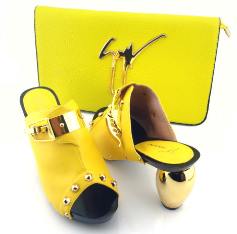 TSM1-52,Lovey design Italian Shoes With Matching Bags in yellow,Good-LookingAfrican Women Shoes and Bags Set For lady,Size 38-43(China (Mainland))
