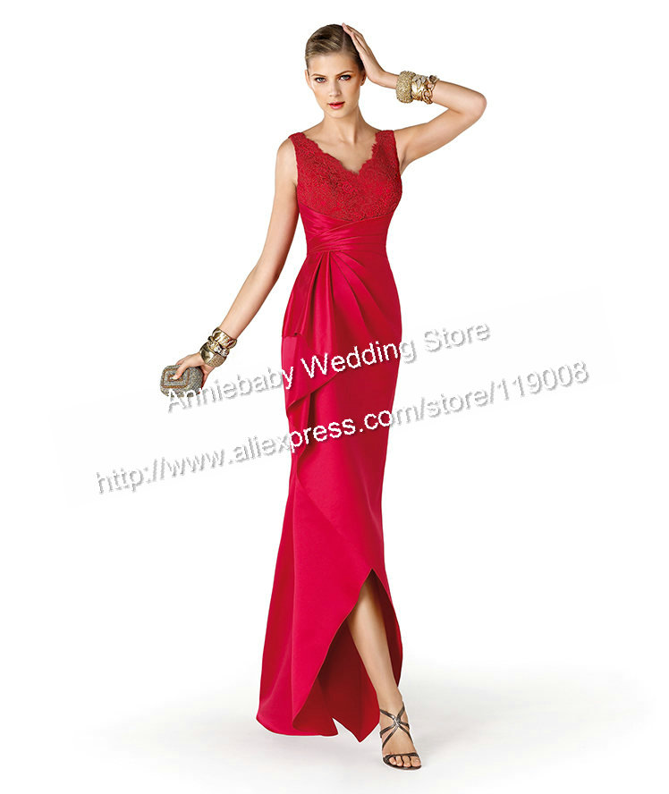New Arrival V-Neck Women Special Occasion Dress Elegant Prom Party Dress Evening Dresses Long 2015(China (Mainland))