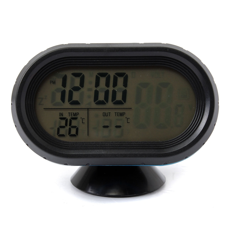 Brand New Top Quality 12-24V Car Voltage Digital Monitor Battery Alarm Clock LCD Temperature Thermeter(China (Mainland))