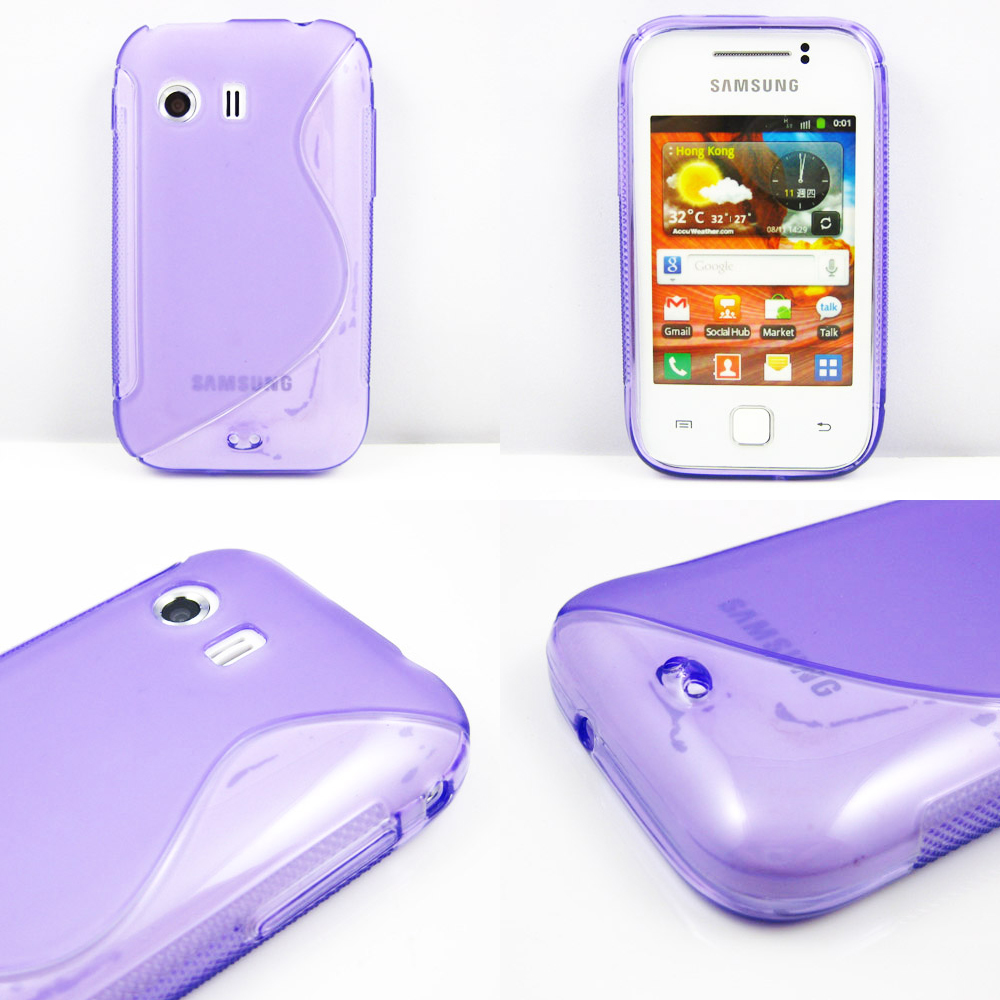 8 Colors S LINE WAVE TPU Gel Silicone Case Cover for Samsung Galaxy Y S5360 Case(China (Mainland))