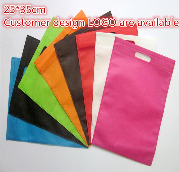 25*35cm 10 pcs/lot luxury non woven shopping plastic bag(China (Mainland))