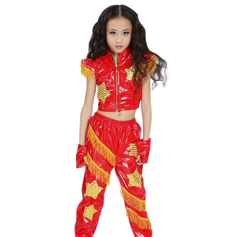 Hot Sale Children s Set Boys font b Girls b font Modern Dance Clothes Suit Kids