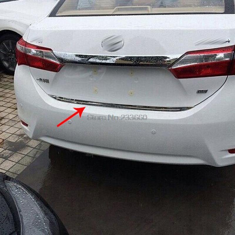 For Toyota Corolla E170 2013 2014 Stainless Steel Rear Trunk Bottom Cover Trim Tail Gate Door Decoration Protector(China (Mainland))