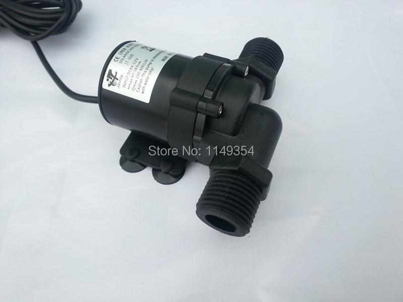 Solar DC 12V 24V Hot Water Circulation Pump Brushless Motor Water Pump MAX lift 5M(China (Mainland))