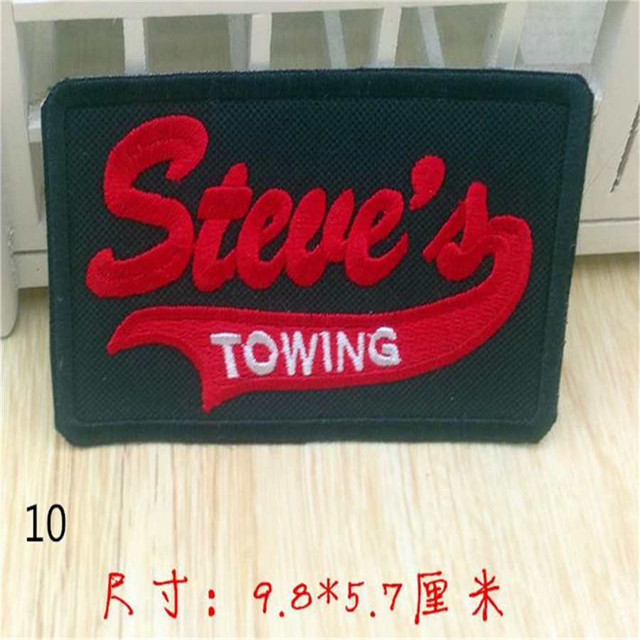 Free shipping men boy clothes Letter logo embroidery patch black fashion iron on patches for clothing patchwork fabric DIY(China (Mainland))