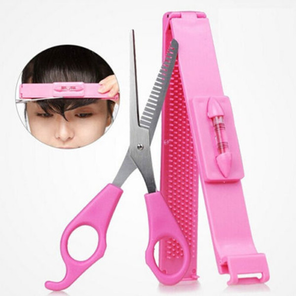 Hot Practical Convenient Home Women/Girls Hair Clip Bangs Cosmetic Scissors Haircut Beauty Tools DIY<br><br>Aliexpress