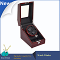 Veined wood Color Motor Watch Winder Self winding Wath Winder Daul Gallery Luxury Watch Display Watch