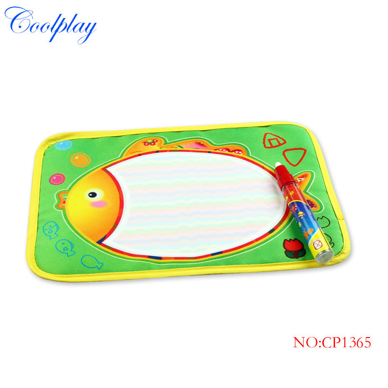 Coolplay 29X19cm Fish colorful drawing Water Doodle mat 1 Magic Pen water Drawing board Aquadoodle Mat Christmas Gift CP1365(China (Mainland))