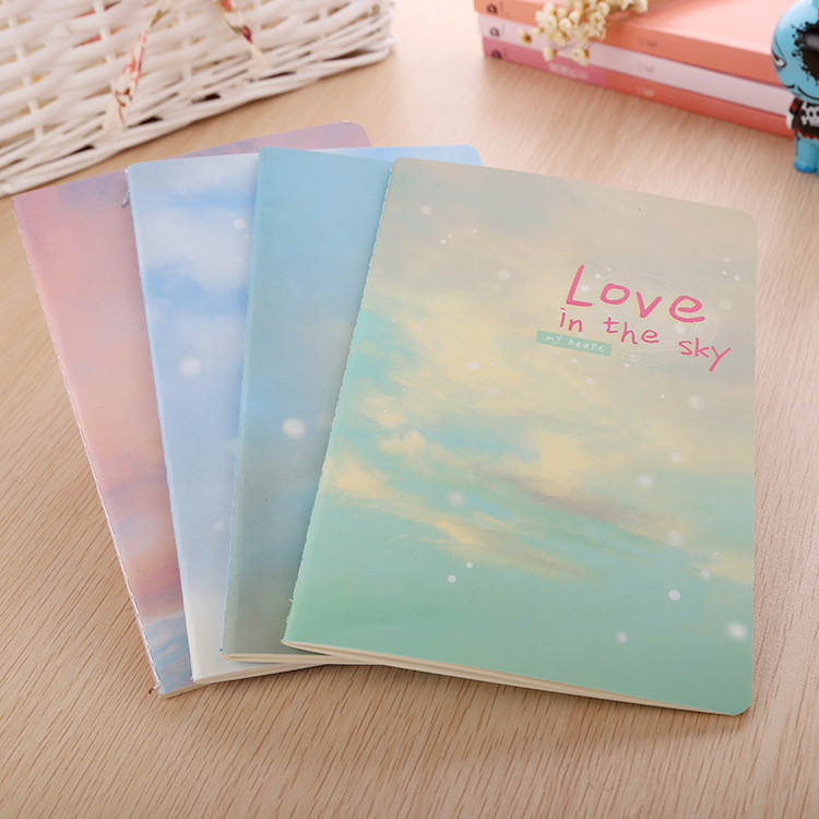 Korea stationery , Love In the Sky A5 Creative Cute And Lovely 32k Notebook / Dairy , Notebook Paper School Suppier(China (Mainland))