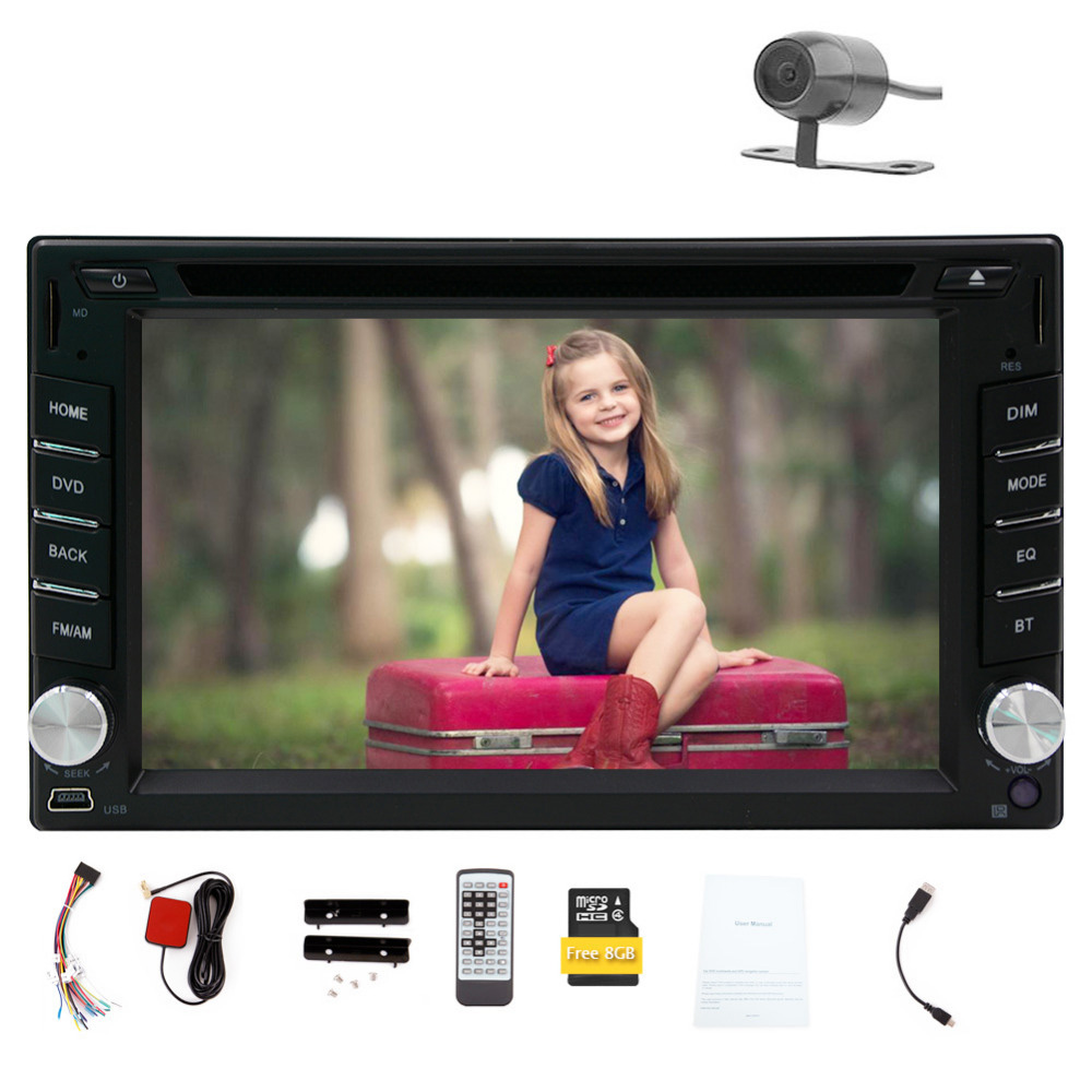 Hot Sale!!! New Model Double DIN 6.2-inch In Dash Car DVD Player LCD Touch Screen Windows system GPS SAT Navigation Free 8GB MAP(China (Mainland))