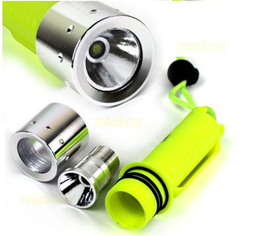 1600 Lumen CREE XM-L T6 LED Waterproof Diving Flashlight Torch Lamp<br><br>Aliexpress