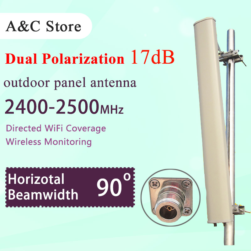 90degree outdoor panel sectored mimo antenna 2.4G 17dBi N-female connector wifi antenna dual polarizationfor ap sector high gain(China (Mainland))