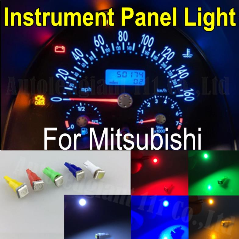 25x Light 286 T5 Led White Red Green Yellow Blue SMD Car Dash bulb Speedo Dashboard Gauge Instrument Light For Mitsubishi(China (Mainland))