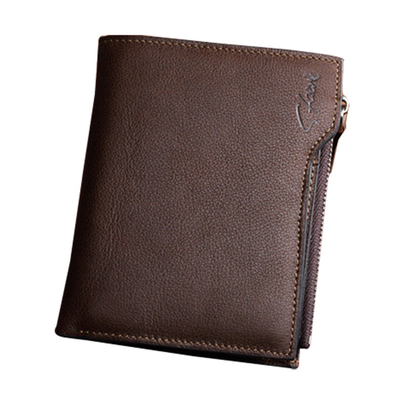 100% genuine leather wallet portfolio male wallets purses of natural skin card-holders men wallet carteira masculina(China (Mainland))