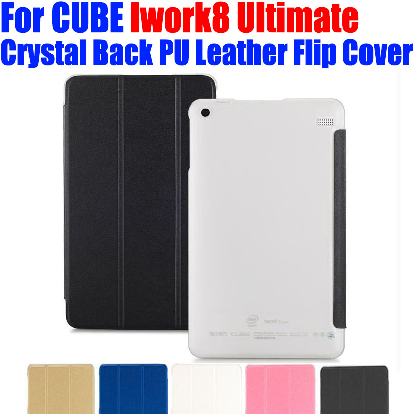 Original Luxury PU Leather Case Flip cover For CUBE Iwork8 Ultimate Crystal Back tablet pc Case For IWORK8 ULTIMATE 8 INCH CB02(China (Mainland))