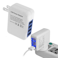 2.1A 4 Ports USB Portable Home Travel Wall Charger US Plug AC Power Adapter For iPhone For iPod Hot Worldwide(China (Mainland))
