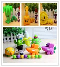 Новый 16 стиль популярная игра PVZ растения против зомби Peashooter пвх фигурку конструкторы 10 см растения против зомби игрушки