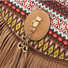 New Style Simple Embroidery Women Crossbody Bag Fashion Chain Shoulder Bag Tassel Women Messenger Bag bolso