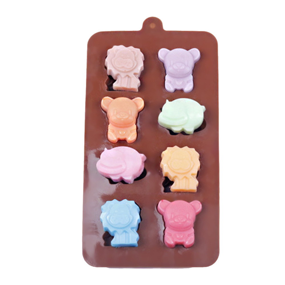 Chocolate Making Cake Decorating And Sugarcraft : Silicone Chocolate Mould Lion Cow Bear Cake Jelly Ice ...