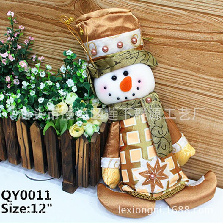 2015 20pcs/lot Gift Christmas Decorations Ornaments Pendant Tree Santa Claus Snowmen Socks Dolls Natal Adornos Navidad Gold(China (Mainland))