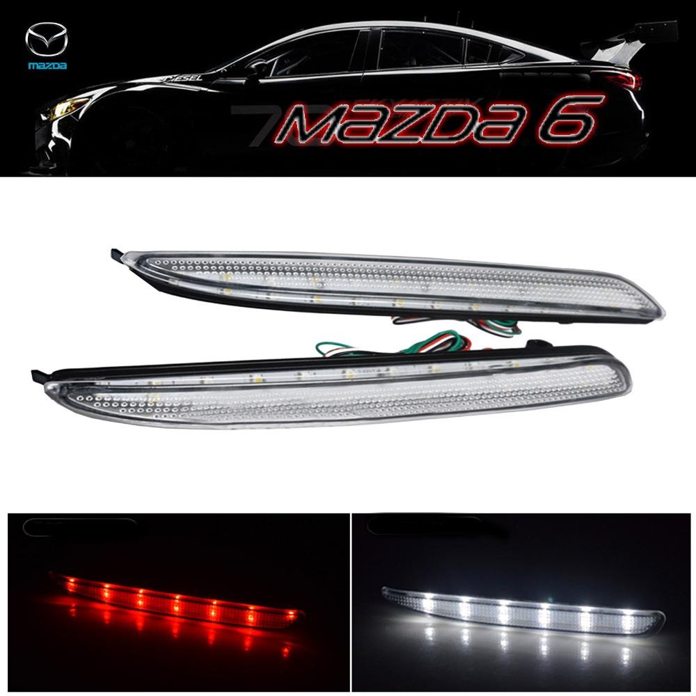 2x Mazda 6 ясно задний бампер из светодиодов обратного тормозного Mazda6 MPS Atenza / белый ( CA172 ) mazda 3 mps classic horse mps 3 car modified abs material