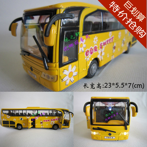 free shipping, Alloy car model acoustooptical WARRIOR bus wiper the door 5 tourist bus school bus 5