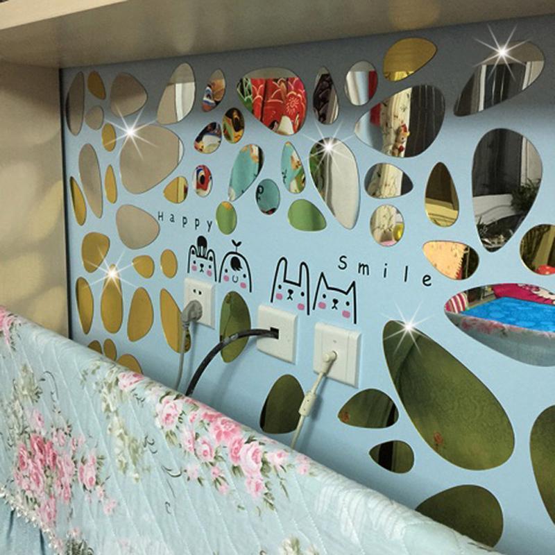 fashion oval abstract decor glass sticker sofa background