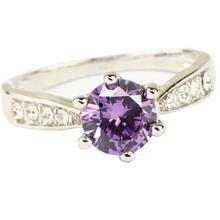 Яи мода женские украшения кольцо аметист цирконий белый платины покрытием австрийские кристаллы обручальное кольцо свадебный подарок(China (Mainland))