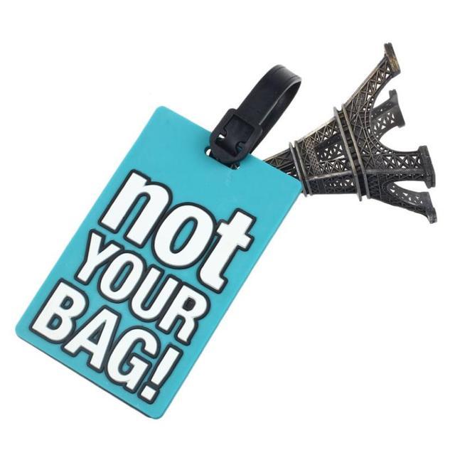 Резиновые веселые путешествия багажа этикетки ремни чемодан имя ID адрес теги багажные ...