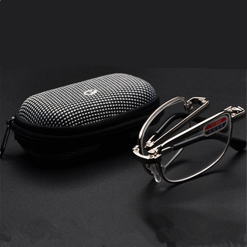 Folding Reading Glasses For Men Women Small Round Reading Glasses Foldable Glasses With Case +1.0,+1.5,+2.0,+2.5,+3.0,+3.5,+4.0