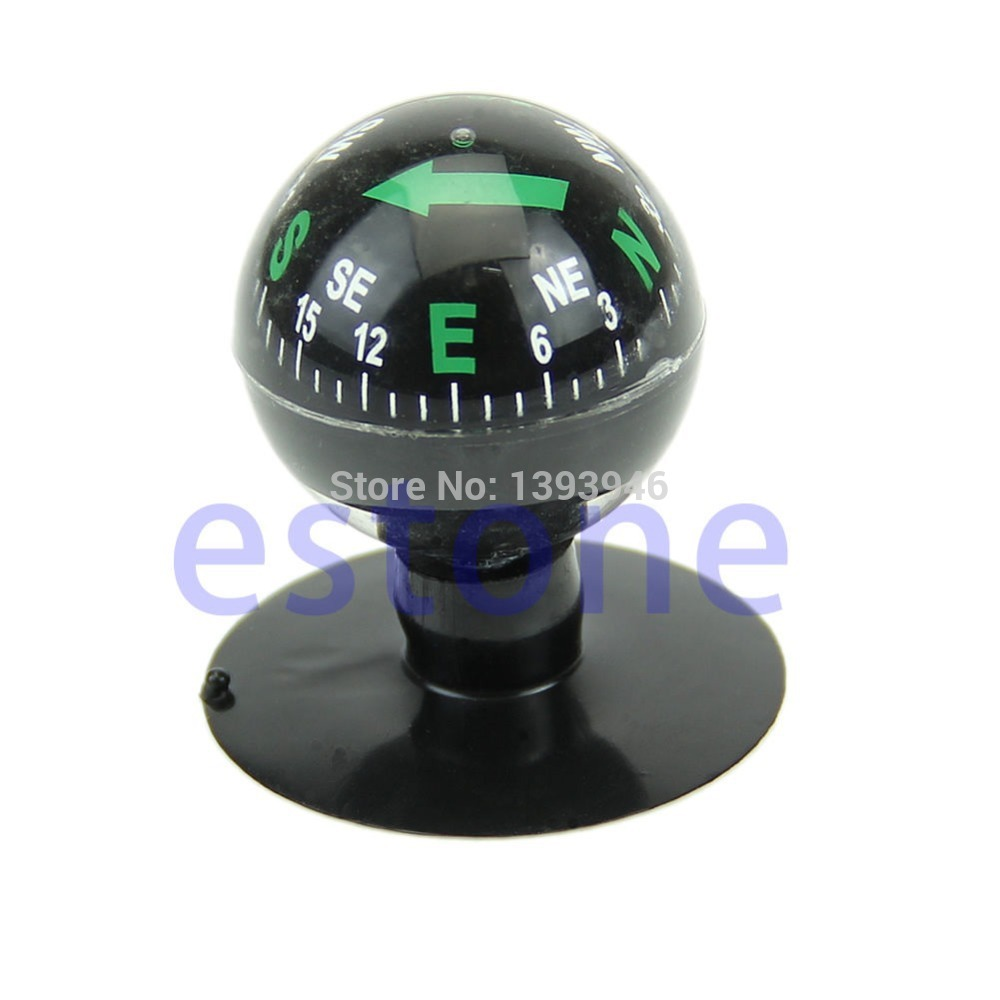 Free Shipping Mini Flexible Navigation Compass Ball Dashboard Suction Cup Car Boat Vehicle(China (Mainland))