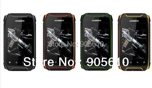 Hummer H1+ Dual Core 3.5inch Rugged smartphone MTK6572A GPS Android 4.2.2  Dustproof shockproof 960*640 512/4G 2800mah(Hong Kong)