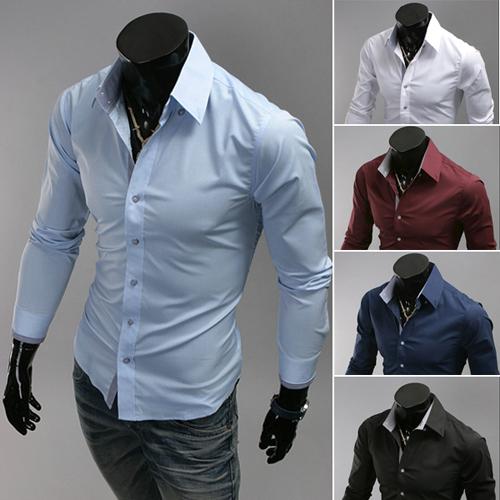 Новинка марка великих людей рубашки с длинным рукавом хлопок уменьшают подходящий французские свободного покроя мужской социальной платья рубашки одежды