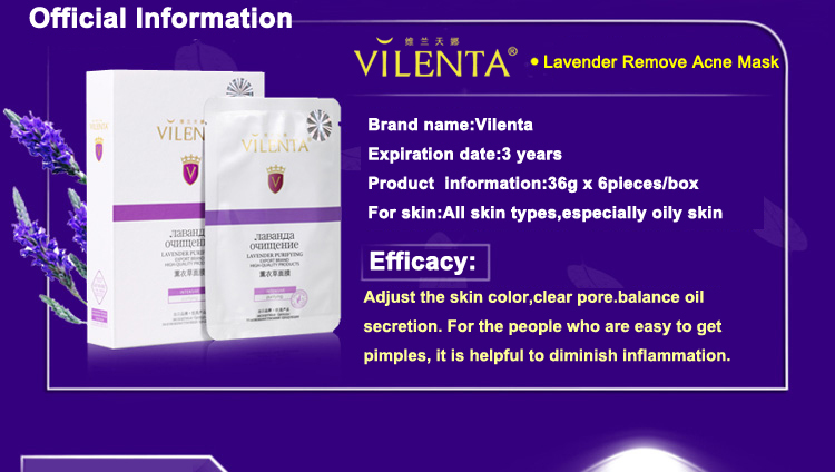 care products Lavender facial Mask solving acne problem,for oil control,for oily skin - My beauty bar store