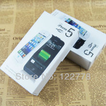 2200mAh High quality External Power bank Back bettery Charger for iPhone 5 5G with USB cable DHL free(China (Mainland))