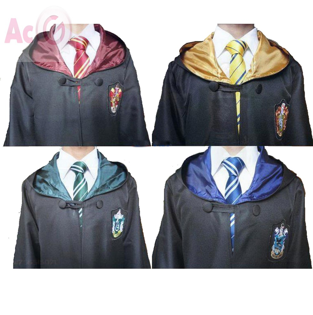 Haute Qualité Harry Potter Robe Gryffondor Cosplay Costume Enfants Adulte Harry potter Robe cape 4 styles Halloween Cadeau 11 TAILLE(China (Mainland))