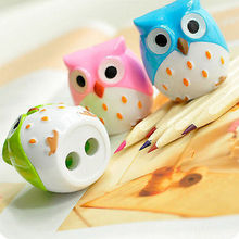 1 pc Hot Lovely Unique Owl Pattern Pencil Sharpener School Kid's  children Favorite Beautiful stationary(China (Mainland))