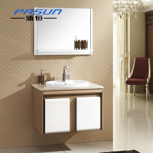Free shipping Oak bathroom cabinet combination wood storage cabinet mirror shelf ceramic basin ph1233(China (Mainland))