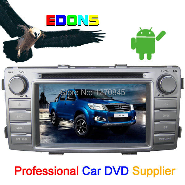 """6.2"""" Android 4.2 car dvd player In dash,car navigator and gps system for hilux 2012 built with 3G wifi bluetooth+free shipping(China (Mainland))"""
